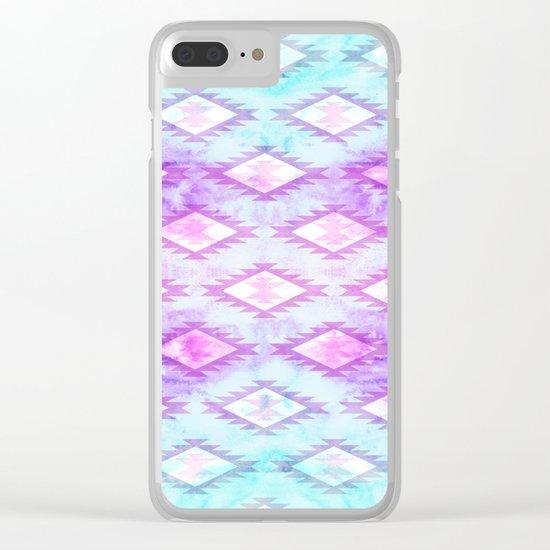 Watercolor Navaho Clear iPhone Case