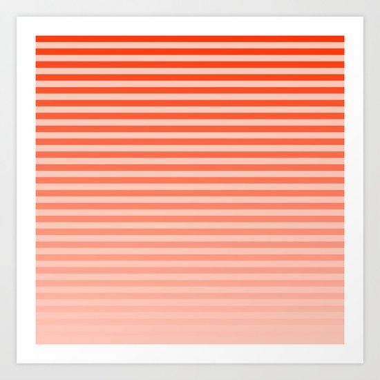 Beach Blanket - Orange/Peach Fade Art Print