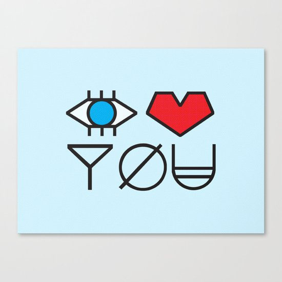 EYE HEART YOU Canvas Print