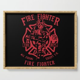 Fire Fighter Serving Tray