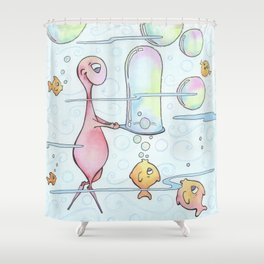Playing With Bubbles Again Shower Curtain