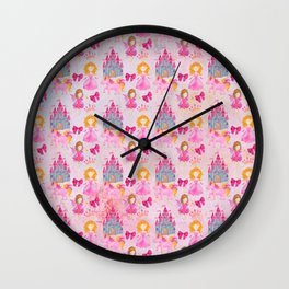 Princess Castle Fairy Wall Clock