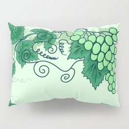 Abstract grapevine with frame from leaves Pillow Sham