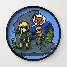 Legend of Zelda Wind Waker Meow T-Shirt Wall Clock