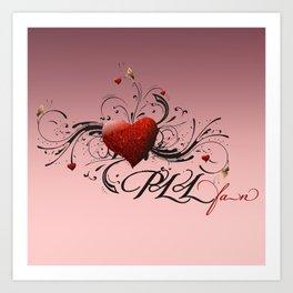 Pretty Little Liars fan heart Art Print