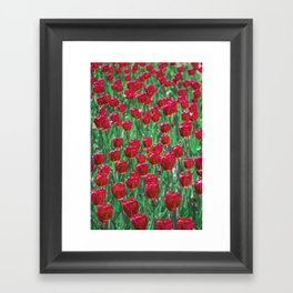 Tulip Love (red) Framed Art Print