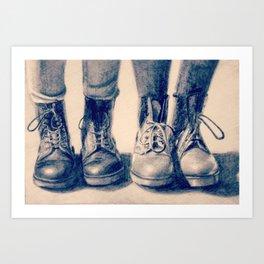 Dr Marten Art Print