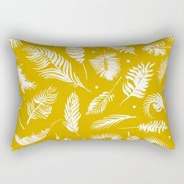 Golden beach palm set pattern Rectangular Pillow
