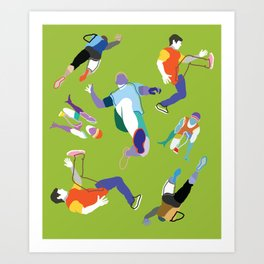 Runners (pattern) Art Print