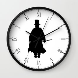 Jack the Ripper Silhouette Wall Clock