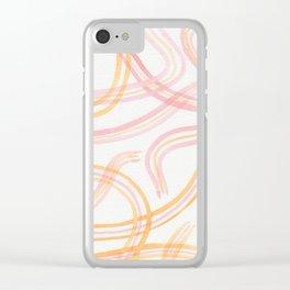 Feeling Wavy Clear iPhone Case