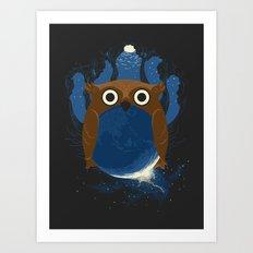 The Earth Owl Art Print
