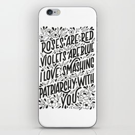 Smashing Patriarchy iPhone Skin