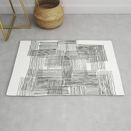 Parallel and perpendicular pencil lines Rug
