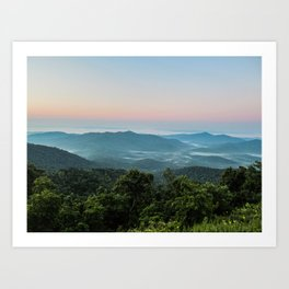 The Morning Mists Art Print