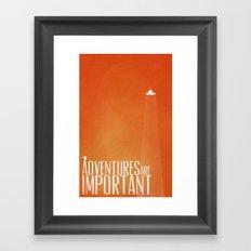 Unidentified Flying Adventure Framed Art Print
