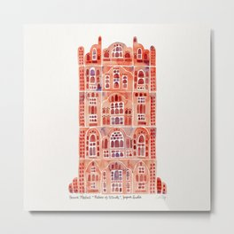 Hawa Mahal – Palace of the Winds in Jaipur, India Metal Print