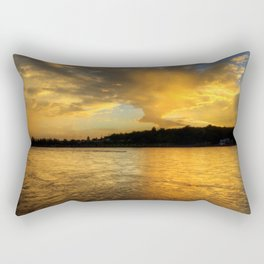 when the light turns to gold... Rectangular Pillow