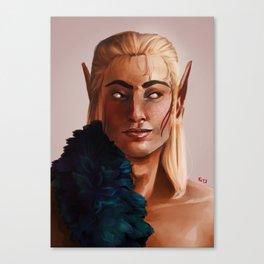 Zevran Arainai Portrait Canvas Print