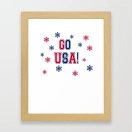 Winter Games - Go USA! Framed Art Print