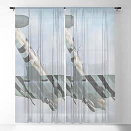 Supermarine Spitfire Sheer Curtain