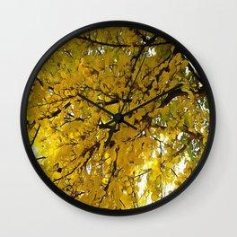 Liquid Amber Autumn Vibes Abstract Wall Clock