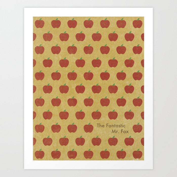 Fantastic Mr Fox Apples Art Print By Morgancari Society6