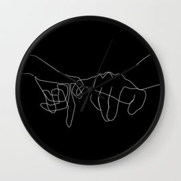 Black Pinky Swear Wall Clock