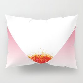 Pink gradient triangle color pencil Drawing by artist Larry Simpson Pillow Sham