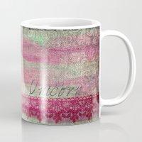 unicorn Mugs featuring Unicorn by AKIKO