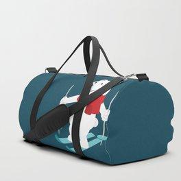 Lets Go Skiing with Mr Polar Bear this Merry Christmas Duffle Bag
