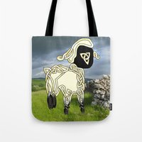 lamb Tote Bags featuring Lamb by Knot Your World