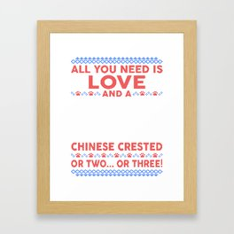 Chinese Crested Ugly Christmas Sweater Framed Art Print
