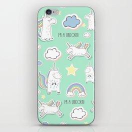 I'm a unicorn - green iPhone Skin