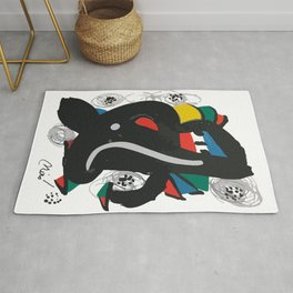 Joan Miro, La Melodie Acide, 1980 Artwork Reproduction, Women, Men, Youth, Prints, Posters, Bags, Ts Rug