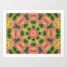 BBQSHOES: Kaleioscopic Fractal Mandala 1543K2 Art Print