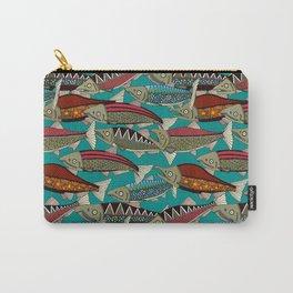 Alaskan salmon teal Carry-All Pouch