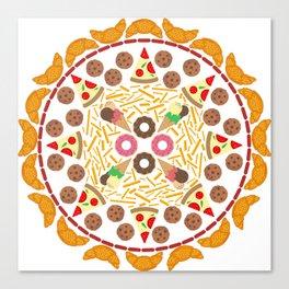 Food circle Canvas Print