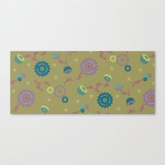 Industrial Suzani in army Canvas Print