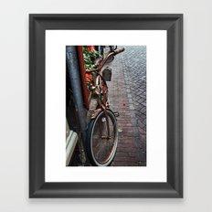 Bronze Bicycle Framed Art Print