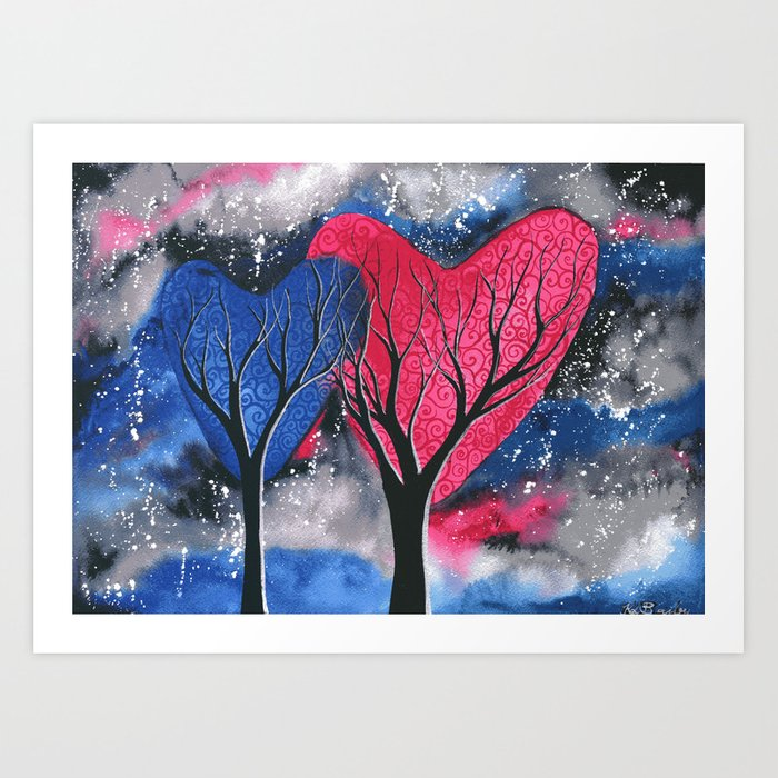 Night Romance Art Print