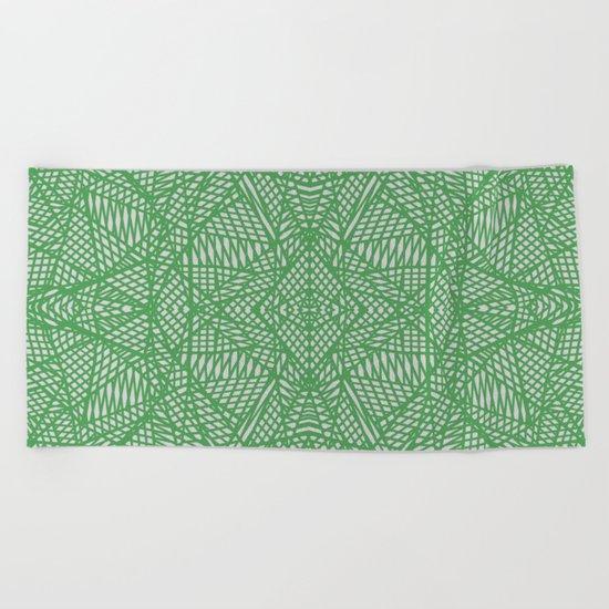 Ab Lace Green Beach Towel