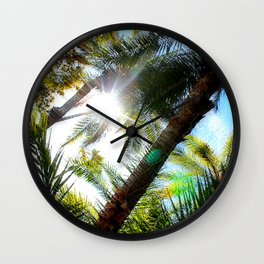 Livin' the Palm Life Wall Clock