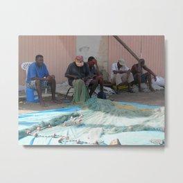 St. Lucia Fishing Village Metal Print