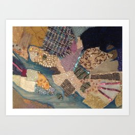 A Patchwork of colour Art Print