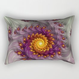 Saffron Frosting - Fractal Art Rectangular Pillow
