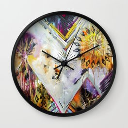 """Burn Bright"" Original Painting by Flora Bowley Wall Clock"