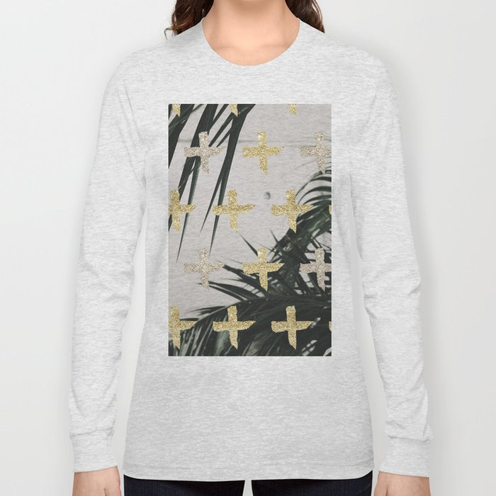 Palms with gold cross Long Sleeve T-shirt