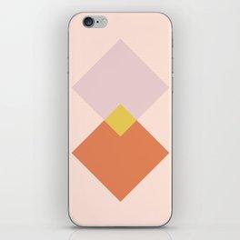 Vintage Geometric Diamonds - Tulip iPhone Skin