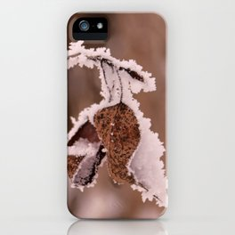 Golden Leaves Frosted iPhone Case